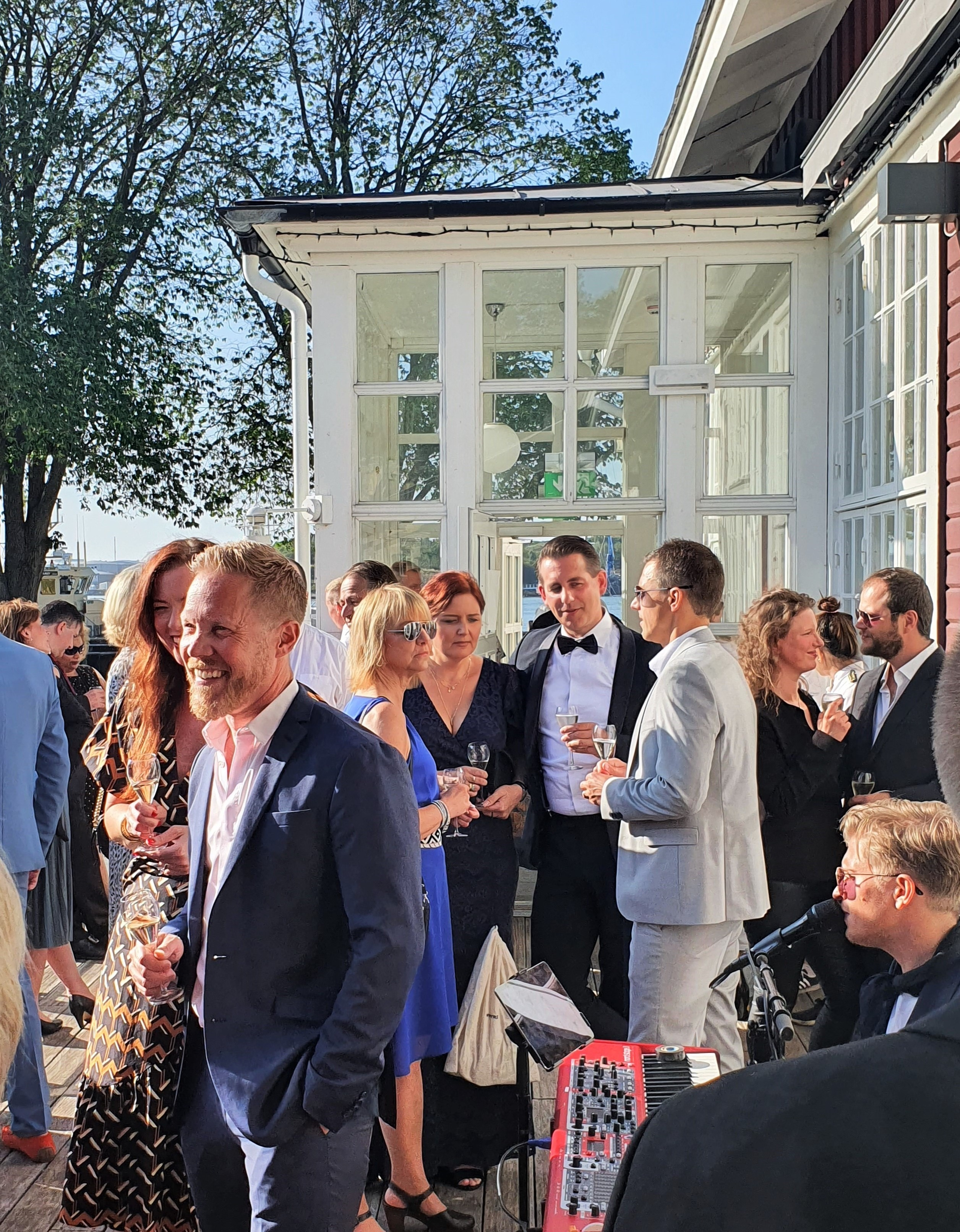 Sommarfest mingel, 2019, 20-årsjubileum på Elicit.