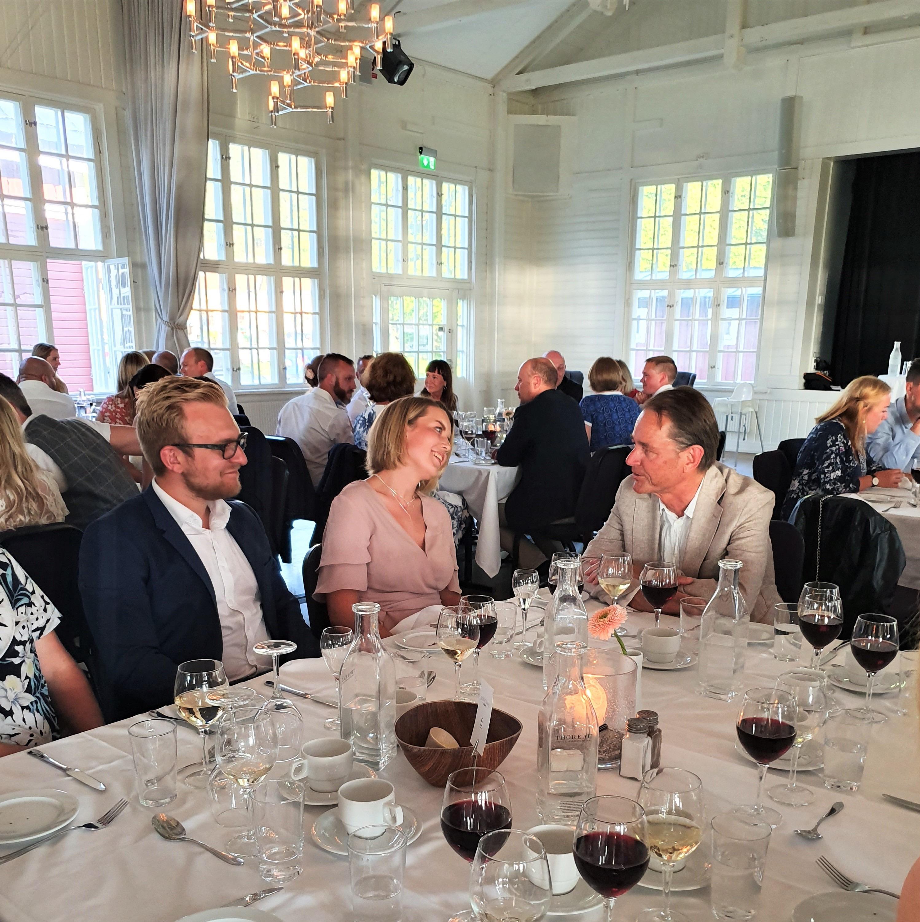Sommarfest 2019 på Elicit, 20-årsjubileum. Middag